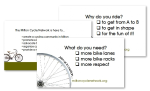 Milton Cycle Network cards