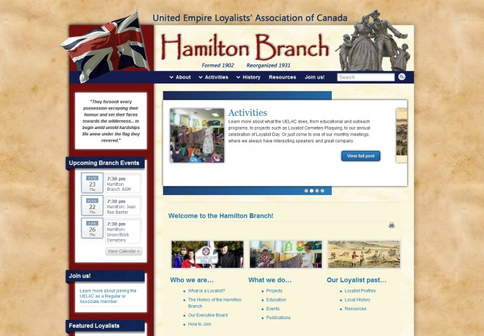 Hamilton UELAC website